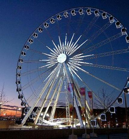 image 1 for gallery liverpool s new big wheel illuminates the night sky near the echo arena 465683633